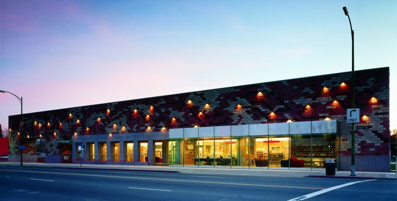 Located One Mile South Of Downtown San Jose, The Biblioteca Latinoamericana  And Washington United Youth Center Anchors A T Shaped Site Surrounded By ...